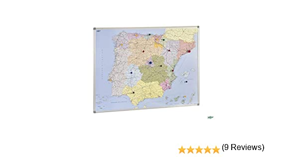 Mapa de España y Portugal magnético 103X129 cm: Amazon.es: Oficina y papelería