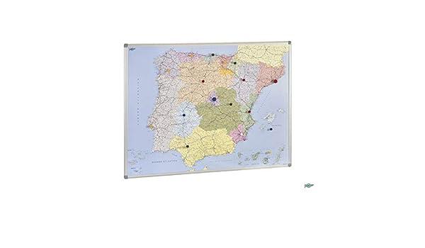 Faibo 203713 - Mapa de España, magnético, 103 x 129 cm: Amazon.es: Oficina y papelería