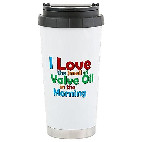 CafePress - Valve Oil Travel Mug - Stainless Steel Travel Mug, Insulated 16 oz. Coffee Tumbler (Marching Band Mug)