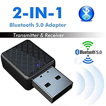 USB Bluetooth Receiver Audio Transmitter AUX Adapter For TV//PC Headphone Speaker