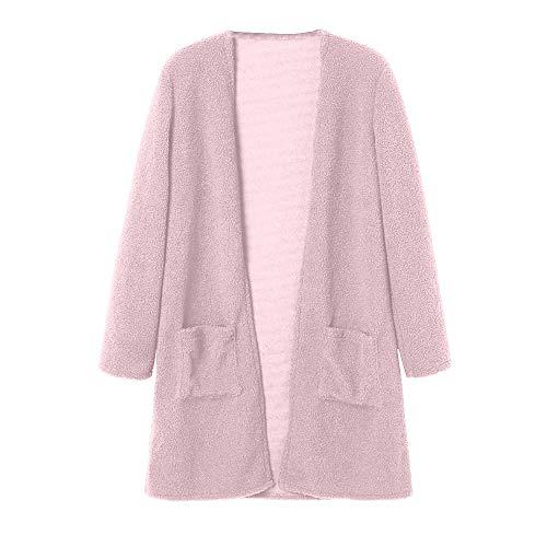 Rose Automne Cardigan Noir Femme Furry Outwear Femme Dame Hiver Manteau Bleu Coat GongzhuMM Blousons Violet avec pour Parka Polaire Sweaters Poche Rose qXr1wxASX