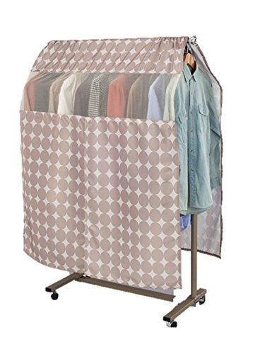 1Storage Washable Garment Rack Covers Circle Print