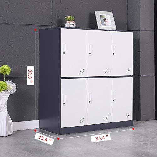 METALSTAR- Knock Down Structure 6 Door Storage Cabinet, Storage Organizer, Metal Locker for Office, Home, Bank, School, Gym (6D)