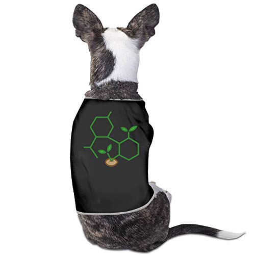 COLLJL8 CBD Molecule Cannabis Sprout Pets Clothing Costumes Puppy Dog Clothes Vest Tee T-Shirt -