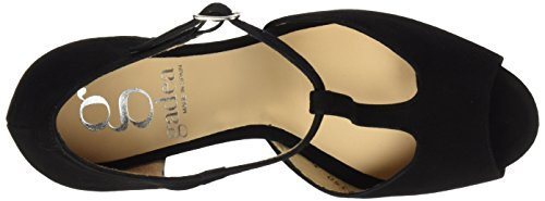 Gadea Women's 40677 Open Toe Heels, Orange Black (Ante Negro Black )