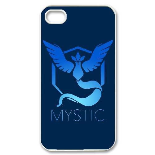 Team Mystic Logo Hard Plastic Snap-On Case Skin Cover For iPhone 4 4S White Phone Case LPB1045