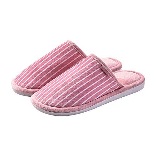 Caldo Home In Antiscivolo Scamosciato 40 Pantofole Addensare Red Pattini Ciabatte Coppia Confortevole Mantenere Inverno Pink Tingting Striscia 41 Cotone colore Scarpe Dimensioni vq7tqY