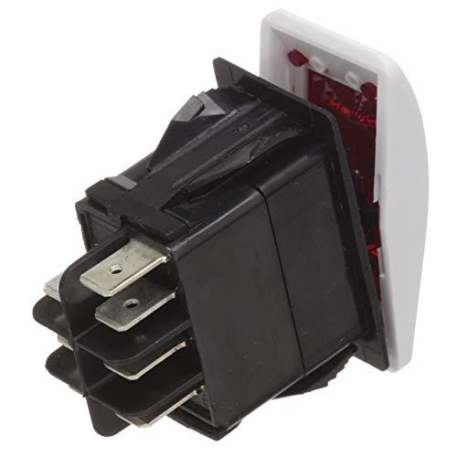 Seachoice Rocker - Seachoice 12991 Contura Rocker Switch - DPDT - 7 Terminal - Illuminated - On/Off/On - White