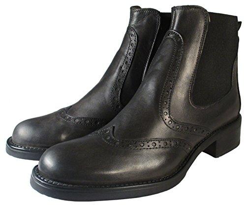 Tom Laurens Chelsea Boots, Cuir Veritable Femme (39, Noir)