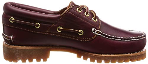 Timberland 3 Eye para Mocasines Authentics Burgundy Hombre Classic Bully Up rrqwOCxB6
