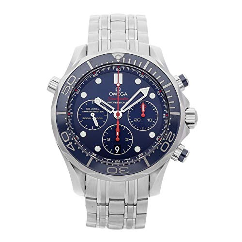 - Omega Seamaster Mechanical (Automatic) Blue Dial Mens Watch 212.30.44.50.03.001 (Certified Pre-Owned)