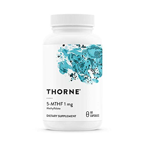 Thorne Research - 5-MTHF 1 mg Folate - Active Vitamin B9 Folate Supplement - 60 Capsules -