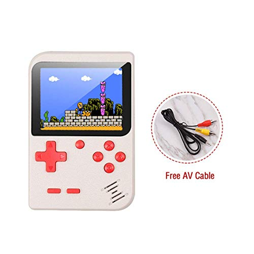 (Retro Portable Mini Handheld Game Console 8-Bit 2.8 in Color LCD Screen Kid Video Handheld Game Player Built-in 400 Games on TV)