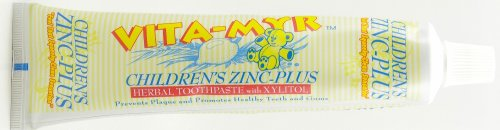 Children's Zinc Plus Herbal Toothpaste - With Xylitol Orange Flavor - 5.4 Oz