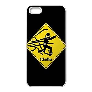 Cthulhu Warning Funny iPhone5s Cell Phone Case White PQN6053055364270