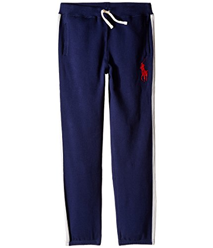 Ralph Lauren Polo Boys Fleece Athletic Pants M (10-12) In French Navy