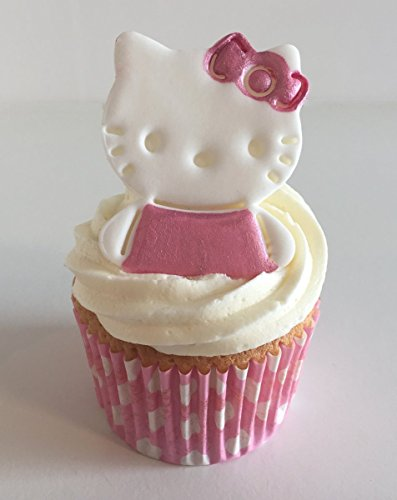 6 Sugar Hello Kittys Cake Toppers- Made with Love & Imagination in the UK!