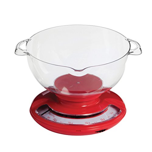 Premier Housewares 5 Kg Round Kitchen Scale - Red