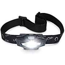 Litom LED Headlamp, Super Bright Headlamp Waterproof Flashlight with 6 Lighting Mode Perfect for Camping, Hiking, Reading