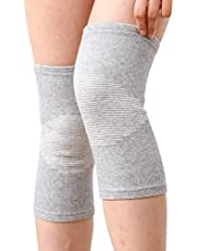 Bamboo Charcoal Knee Protection Ultra Thin Slim Air Permeability Antibacterial Knitting Knee Pad For Women & Men Support for Arthritis, ACL, Running, Biking, Basketball Sports (S)