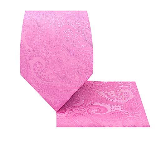 Paisley Necktie Set-1212-Y-Paisley 2-Pink