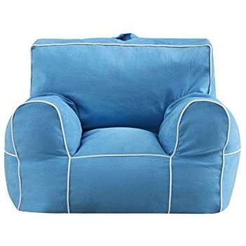 Admirable Mainstays Microfiber Large Bean Bag Chair 100 Polyester Turquoise Alphanode Cool Chair Designs And Ideas Alphanodeonline