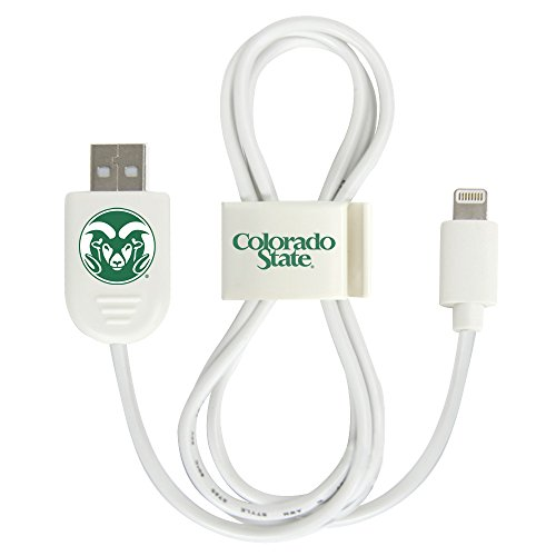 Colorado State Rams Lightning USB Cable with QuikClip by QuikVolt