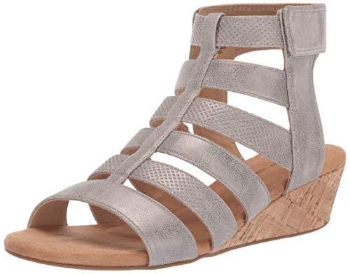 Rockport Women Calia Gladiator Wedge Sandal, Taupe, 6 M US (Rockport Ladies Sandals)