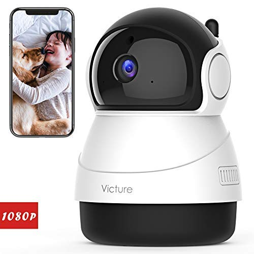 Victure 1080P Baby Monitor with WiFi Camera FHD Indoor Wireless Surveillance Security IP Camera with Motion Detection Night Vision 2-Way Audio Cloud Storage for Baby/Elder/Pet