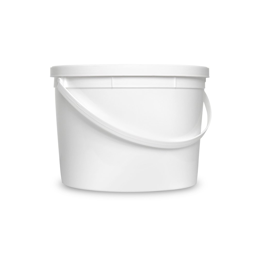 1 Gallon Janitorial White Bucket with LId - Durable 90 Mil All Purpose Sanitation Supplies Pail - Multi-Purpose Industrial Buckets (Pack of 100) by ePackageSupply