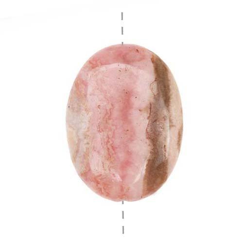 Rhodochrosite Oval Beads - 1