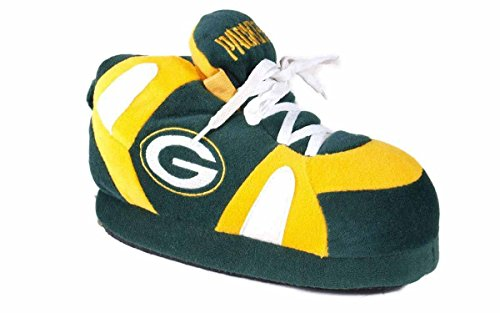 GRB01-4 - Green Bay Packers - XL - Happy Feet & Comfy Feet NFL Slippers