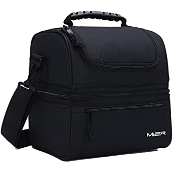 MIER Adult Lunch Box Insulated Bag Large Cooler Tote For Men Women
