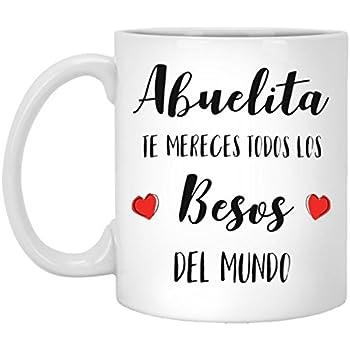 SAYOMEN - Abuelita Besos - Feliz Dia De La Madre Abuelita - Mothers Day Gift for Grandma - Mothers Day Coffee Mug for Grandma (in Spanish), MUG 15oz