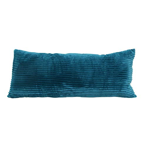 Brentwood Originals Plush and Sherpa Pillow, 20x48, Teal