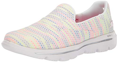- Skechers Women's GO Walk Evolution Ultra-GLADDEN Sneaker, White/Multi, 11 M US