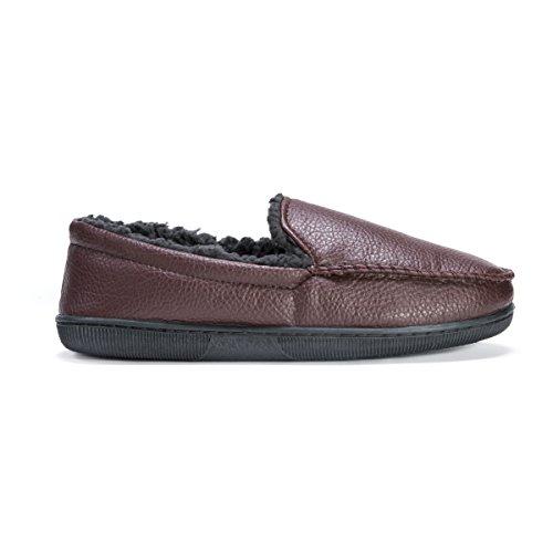 Loafer LUKS MUK Men's Brown on Brown Slip Moccasin rYYwq