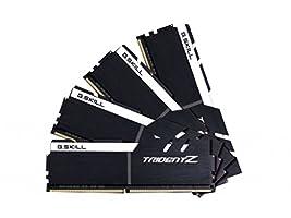 G.SKILL 32GB (4 x 8GB) TridentZ Series DDR4 PC4-25600 3200MHz For Intel X99 Platform Desktop Memory Model F4-3200C16Q-32GTZKW
