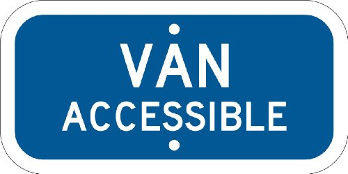 Brady 103751 Reflective Aluminum California State Supplemental Handicap Ada Parking Sign, 12