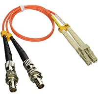 1ft Fiber Optic Adapter Cable LC (Male) to ST (Female) Multimode 62.5/125 Duplex