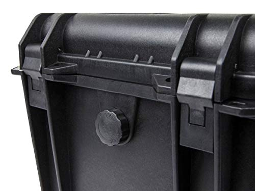 "Monoprice Weatherproof/Shockproof Hard Case - Black IP67 Level dust and Water Protection up to 1 Meter Depth with Customizable Foam, 11"" x 8"" x 10"""