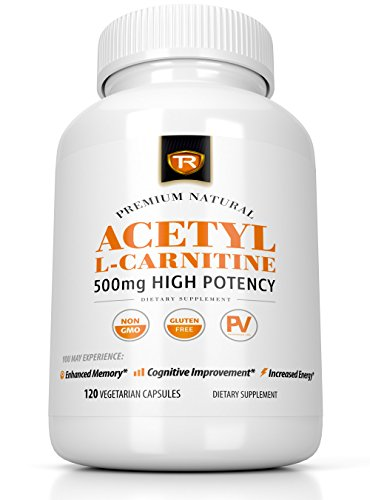 Acetyl L-Carnitine 500mg Extra Strength Supplement | 120 Vegetarian Capsules - Alcar by True Recovery
