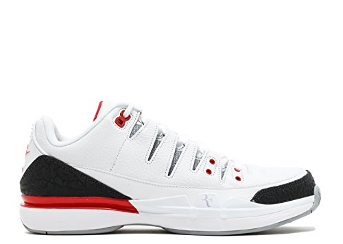 NIKE Men's Zoom Vapor RF x AJ3, White/Fire Red-Silver-Black White/Fire Red-silver-black