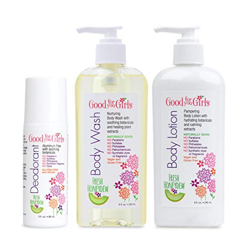 Girls Lotion - Good For You Girls Body Care Set, Body Wash, Body Lotion, Deodorant, Kids, Pre-Teens, Teens, Non-Toxic, Gift Set