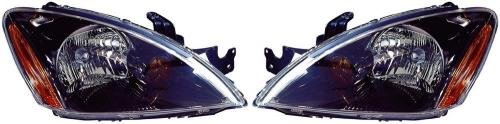 Go-Parts PAIR/SET OE Replacement for 2004-2007 Mitsubishi Lancer Front Headlights Headlamps Assemblies Front Housing/Lens / Cover - Left & Right (Driver & Passenger) Side - (ES 4 Door; ()