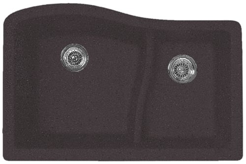 Swanstone Sink Accessories (Swanstone QULS-3322.077 32-Inch by 21-Inch Undermount Large/Small Bowl Kitchen Sink,)