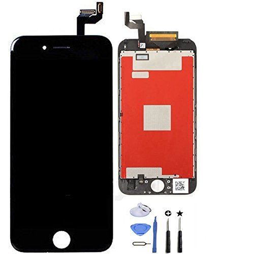 Retina LCD Display Touch Screen Digitizer Glass Replacement Full Assembly with repair kit for iPhone 6S Plus 5.5 inch (Black)