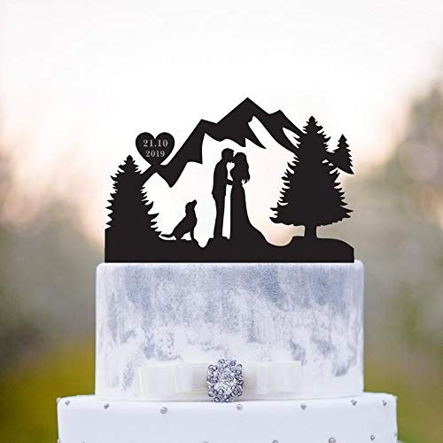 Personalized Hiking Couple Dog Wedding Cake Topper Backpacking Mr Mrs Outdoor Wedding Cake Toppers Home Garden Cs Sp Co Jp