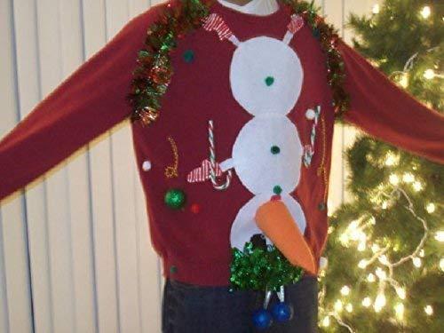 Amazoncom New Ugly Christmas Sweater Sweatshirts Naughty Men Red