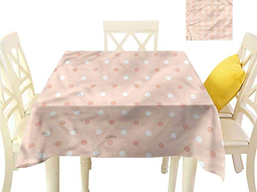 Davishouse Elegant Waterproof Spillproof Polyester Fabric Table Cover Childish Speckles Kids Indoor Outdoor Camping Picnic W63 x L63